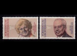 Liechtenstein Tod von Fürst Franz Mi. 988-89 ** (c029