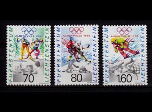 Liechtenstein Winter Olympiade 1991 Mi.1030-32 ** (c045
