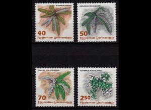 Liechtenstein Farne Botanik 1992 Mi. 1045-48 ** unter Postpreis (c050
