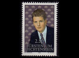 Liechtenstein Erbprinz Alois 1992 Mi.1053 ** unter Postpreis (c053