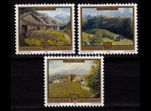Liechtenstein Maler Malerei 1993 Mi.1056-58 ** unter Postpreis (c055