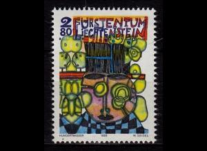 Liechtenstein Zeitgenössische Kunst Hundertwasser 1993 Mi 1060 ** (c057