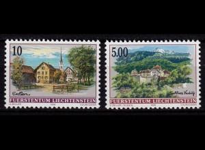 Liechtenstein Dorfansichten 5 Fr.+ 0,10 1996 Mi.1126-27 ** u. Postpreis (c084