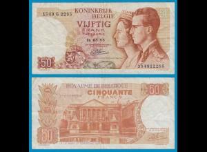 Belgien - Belgium 50 Francs 16-05-1966 - Pick 139 F/VF (19108