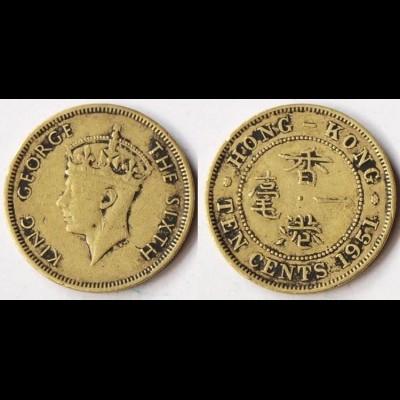 HONGKONG - Hong Kong 1951 10 Cents Coin King George VI. (r385