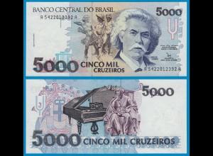Brasilien - Brazil 5000 Cruzados Banknote 1992 Pick 232b UNC (21072