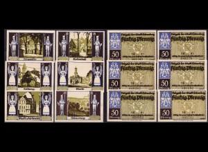 Sachsen - Schneeberg - Satz 6 Stück Notgeld 1921 (ca374