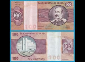 Brasilien - Brazil 100 Cruzados Banknote (1981) Pick 195 Ab UNC Sig.20 (21071