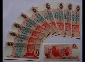 Argentinien - Argentina 10 x 1 Pesos 1983 Pick 311a UNC (21061
