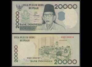 Indonesien - Indonesia 20000 20.000 Rupiah 1998/1999 Pick 138b UNC (1) (21156