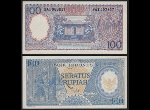 Indonesien - Indonesia 100 Rupiah Banknote 1964 Pick 98 UNC (1) (21158
