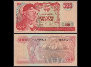 INDONESIEN - INDONESIA 100 RUPIAH Banknote 1968 aUNC Pick 108 (21168