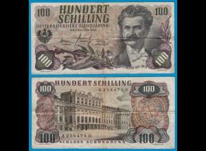 Österreich - Austria 100 Schilling Banknote 1960 (1961) etwa F (4) Pick 138