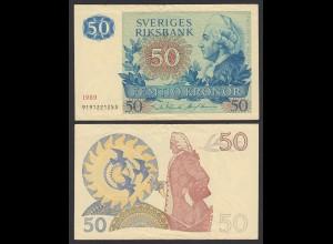 Schweden - Sweden 50 Kronen Banknote 1989 F/VF (3-) Pick 53d (21300