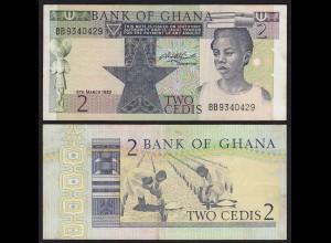 Ghana - 2 Cedis Banknote 1982 Pick 18d VF+ (3+) (21310