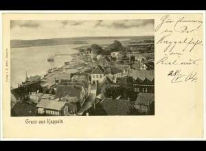 AK Kappeln Hafen Stadtansicht Flensburg 1904 (2088