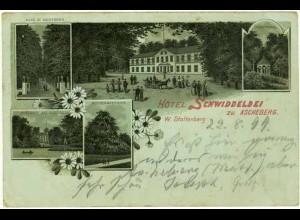 AK Litho Hotel Schwiddeldei Ascheberg Holstein1899 (2086