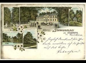 AK Litho Hotel Schwiddeldei Ascheberg Holstein1898 (2085