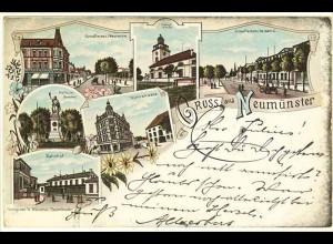 AK Litho Neumüster Schleswig-Holstein 1897 (2072