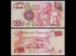 Ghana - 10 Cedis Banknote 1977 Pick 16e UNC (1) (21311