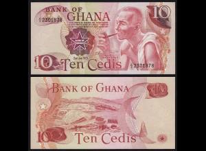 Ghana - 10 Cedis Banknote 1978 Pick 16f UNC (1) (21314
