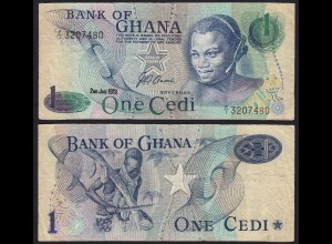 Ghana - 1 Cedis Banknote 1973 Pick 13a VF (3) (21318