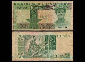 Ghana - 20 Cedis Banknote 1982 Pick 21c F (4) (21327