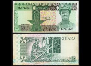 Ghana - 20 Cedis Banknote 1982 Pick 21c aUNC (1-) (21328