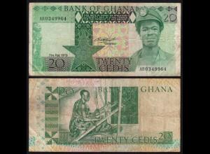 Ghana - 20 Cedis Banknote 1979 Pick 21a VF- (3-) (21329