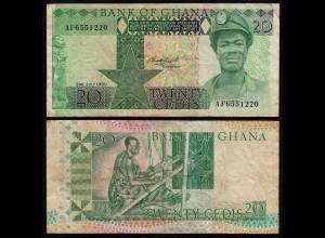 Ghana - 20 Cedis Banknote 1980 Pick 21b VF (3) (21332