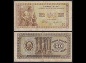 Jugoslawien - Yugoslavia 50 Dinara 1946 VG (5) Pick 64a (21346