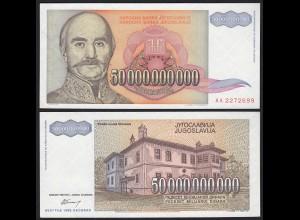 Jugoslawien - Yugoslavia 50-Milliarden Dinara 1993 Pick 136 UNC