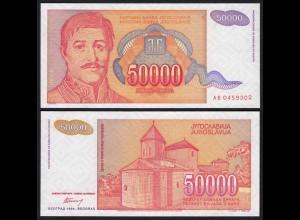 Jugoslawien - Yugoslavia 50000 50.000 Dinara 1994 Pick 142a UNC (21357