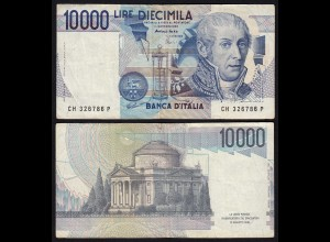 Italy - 10000 10.000 Lire Banknotes 1984 Pick 112d F/VF (3/4) (21362