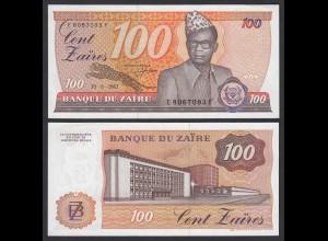 Zaire - 100 Zaires 1983 Banknote Pick 29a UNC sig.6 RAR (21405