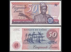 Zaire - 50 Zaires 1982 Banknote Pick 28a aUNC sig.6 (21407