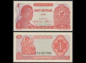 Indonesien - Indonesia 1 Rupiah Banknote1968 Pick 102 UNC (1) (21436
