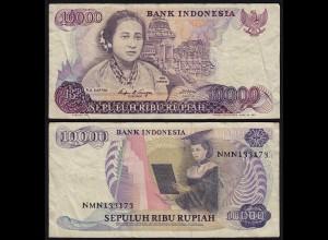 Indonesien - Indonesia 10000 10.000 Rupiah 1985 Pick 126a F/VF (3/4) (21474