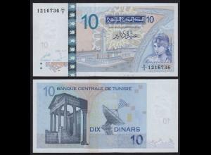 TUNESIEN - TUNISIA 10 Dinars Banknote 2005 Pick 90 UNC (1) (21493