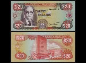 JAMAIKA - JAMAICA 20 Dollars Banknote 1995 Pick 72e VF/XF (2/3) (21505