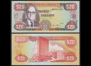 JAMAIKA - JAMAICA 20 Dollars Banknote 1995 Pick 72e aUNC (1-) (21507