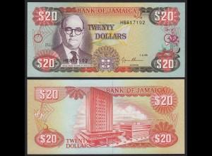 JAMAIKA - JAMAICA 20 Dollars Banknote 1995 Pick 72e UNC (1) (21508