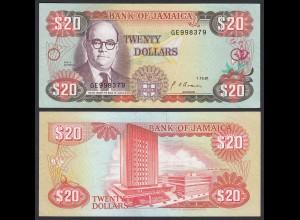 JAMAIKA - JAMAICA 20 Dollars Banknote 1991 Pick 72d XF (2) (21509