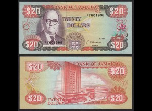 JAMAIKA - JAMAICA 20 Dollars Banknote 1991 Pick 72d VF (3) (21510
