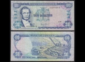 JAMAIKA - JAMAICA 10 Dollars Banknote 1987 Pick 71b VF (3) (21523