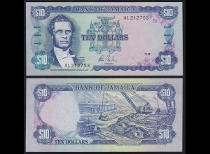 JAMAIKA - JAMAICA 10 Dollars Banknote 1985 Pick 71a UNC (1) (21524
