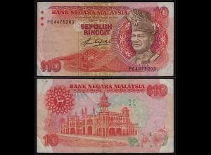 Malaysia 10 Ringgit Banknote 1983/84 Pick 21 F/VF (3/4) (21536