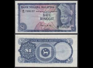Malaysia 1 Ringgit Banknote 1967/72 Pick 1a XF (2) (21540