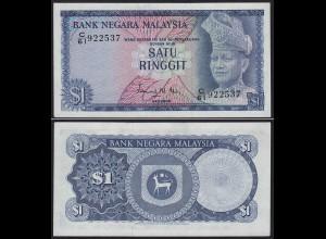 Malaysia 1 Ringgit Banknote 1967/72 Pick 1a XF/aUNC (1-/2) (21541