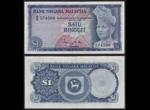 Malaysia 1 Ringgit Banknote 1967/72 Pick 1a VF+ (3+) (21542